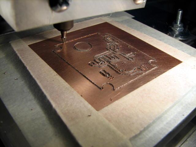 Video Demonstrating The Cnc Machine Milling Printed Circuit Board